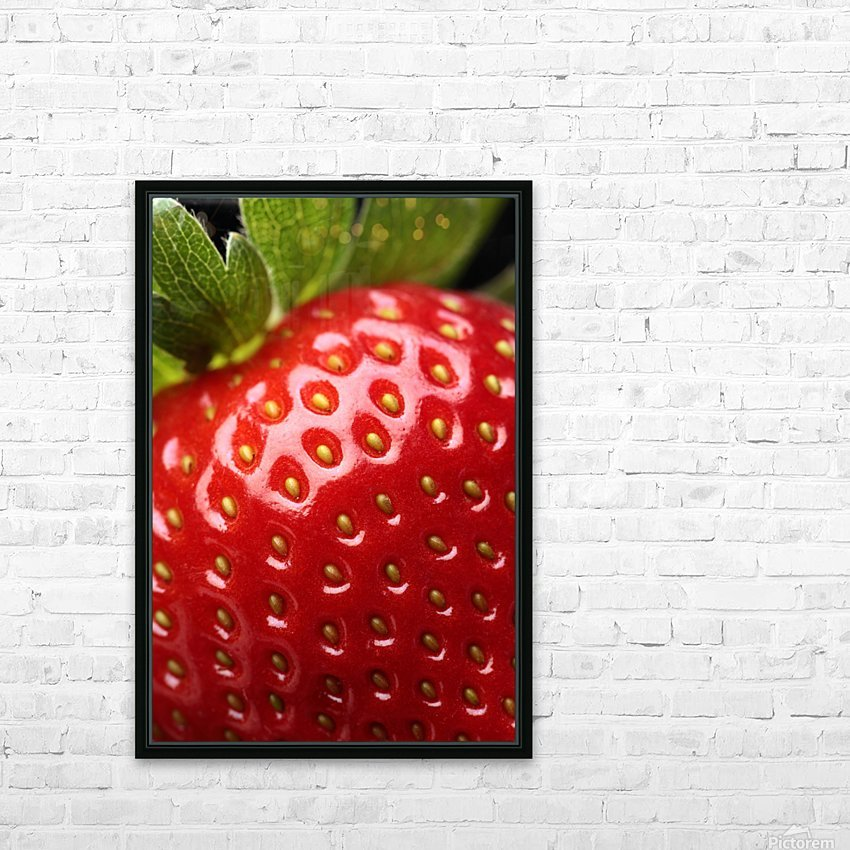 Fresh strawberry close-up HD Sublimation Metal print with Decorating Float Frame (BOX)