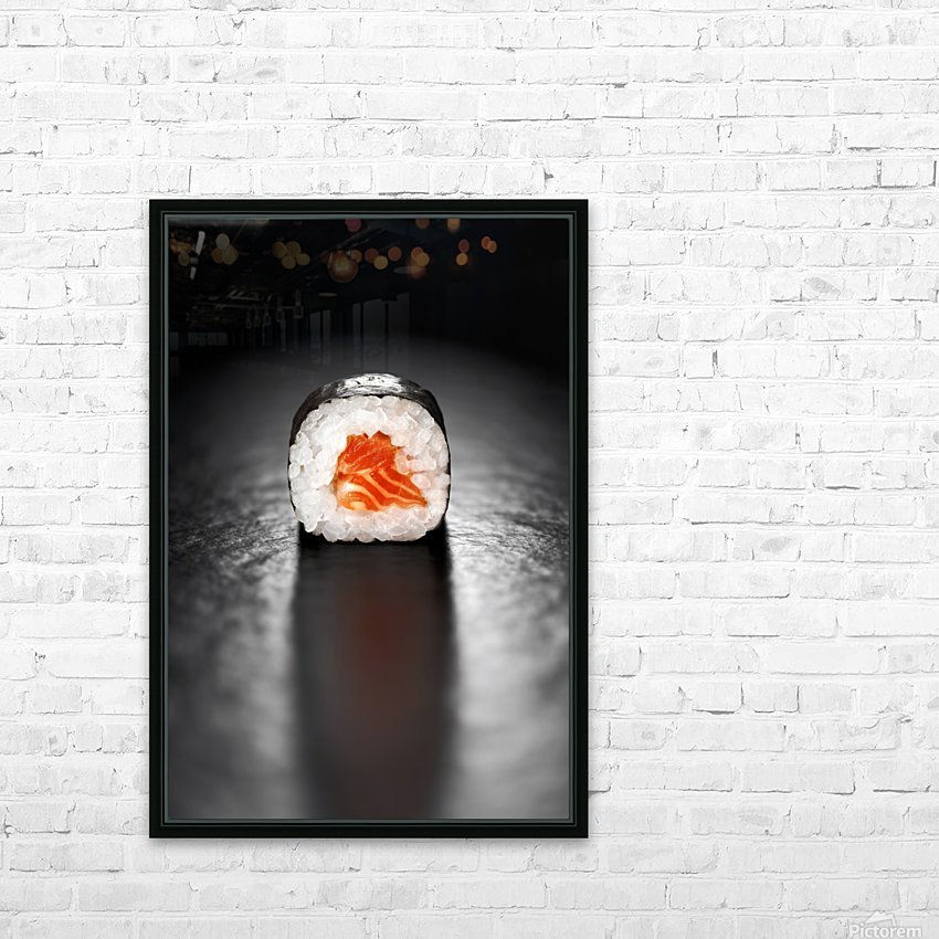Maki Sushi Roll with Salmon HD Sublimation Metal print with Decorating Float Frame (BOX)