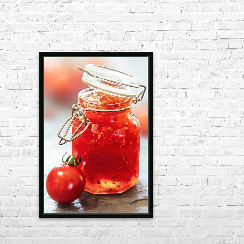 Tomato Jam in Glass Jar HD Sublimation Metal print with Decorating Float Frame (BOX)