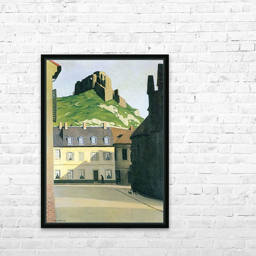 Town square in Andlys by Felix Vallotton HD Sublimation Metal print with Decorating Float Frame (BOX)