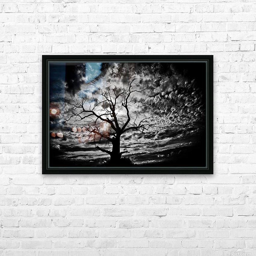 Spooky tree HD sublimation métal imprimé avec décoration flotteur cadre (boîte)