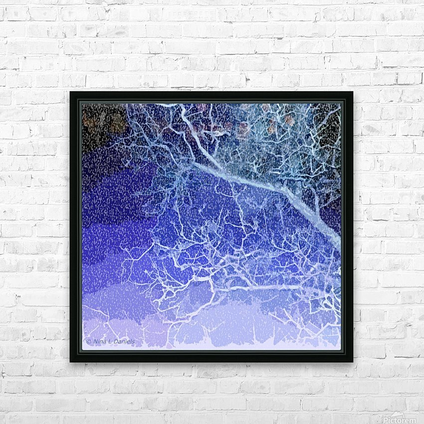 TreeBranches2 HD Sublimation Metal print with Decorating Float Frame (BOX)