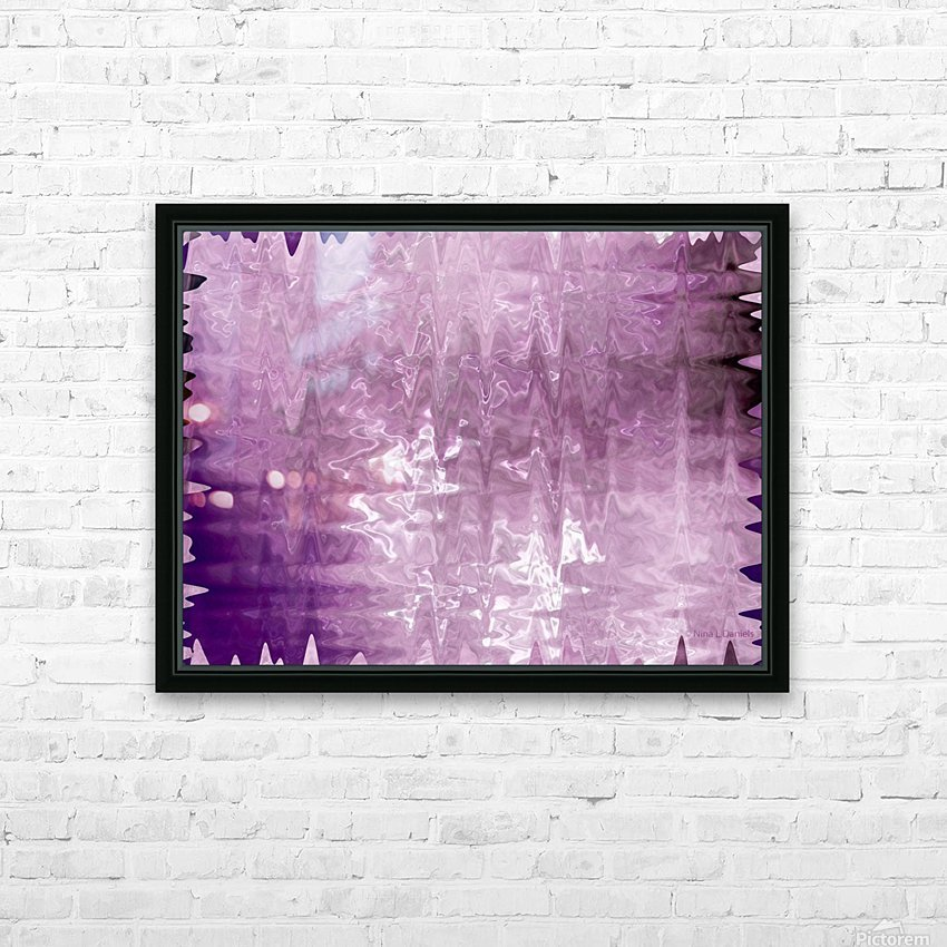 PurplePassion Wave HD Sublimation Metal print with Decorating Float Frame (BOX)