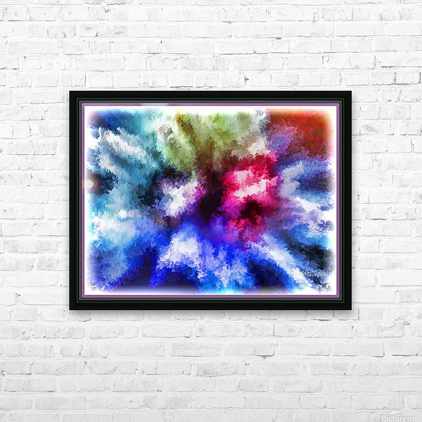 Mind Splash HD Sublimation Metal print with Decorating Float Frame (BOX)