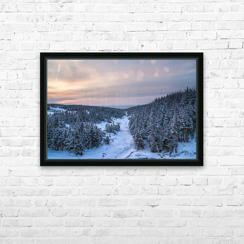 Dawn at Fishing Cove River HD Sublimation Metal print with Decorating Float Frame (BOX)