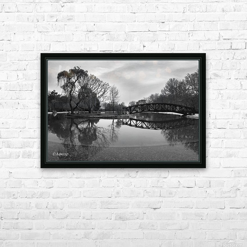 Bridge of dreams HD Sublimation Metal print with Decorating Float Frame (BOX)