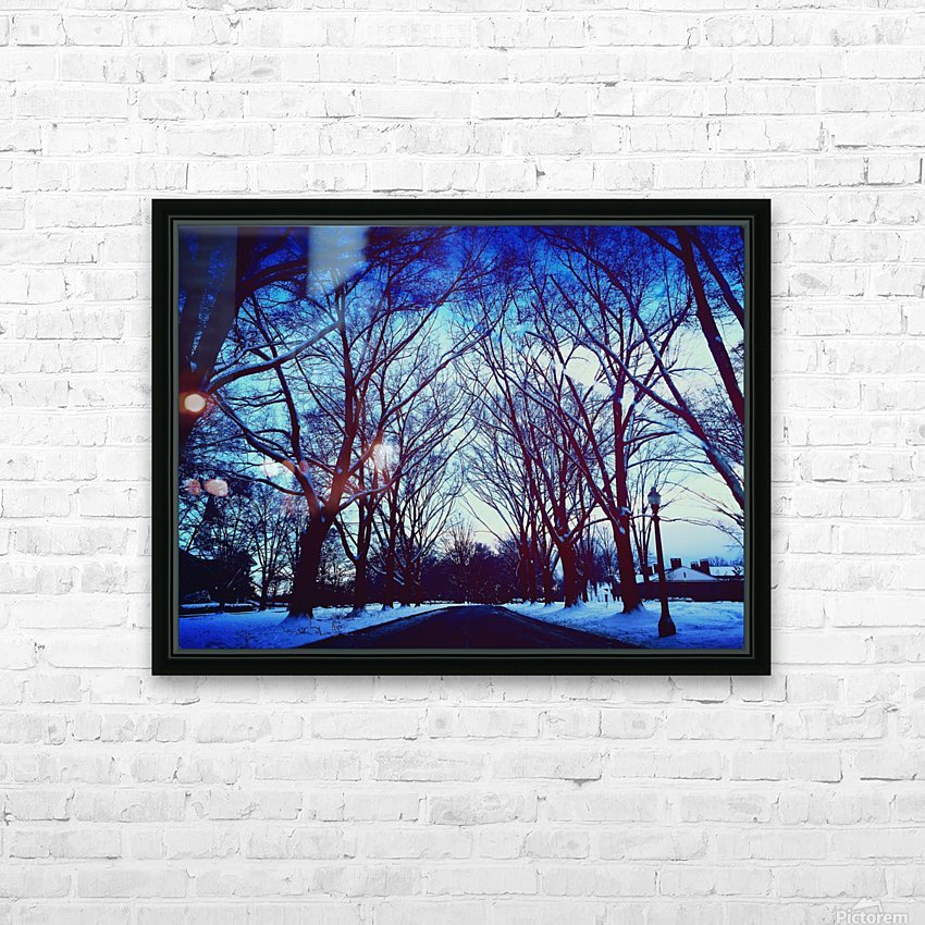 Snowy Delight HD Sublimation Metal print with Decorating Float Frame (BOX)