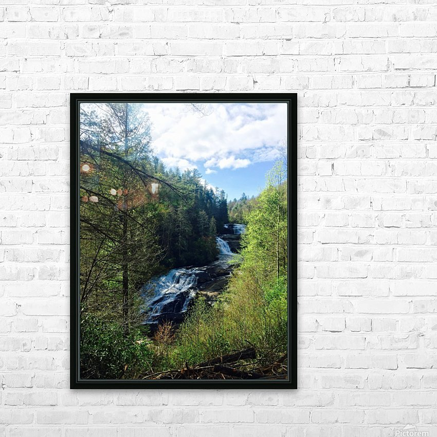 Waterfall Delight HD Sublimation Metal print with Decorating Float Frame (BOX)