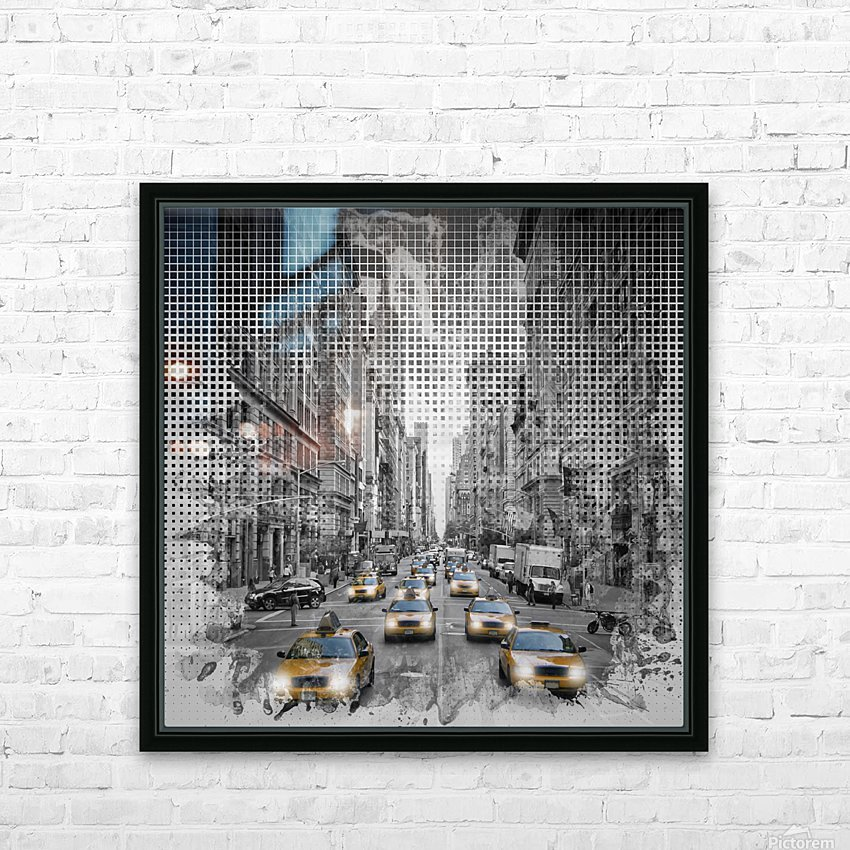 Graphic Art NEW YORK CITY 5th Avenue Traffic HD Sublimation Metal print with Decorating Float Frame (BOX)