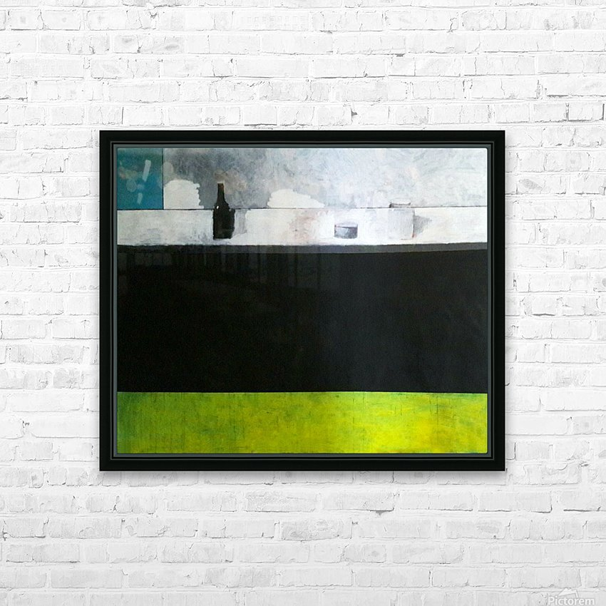 Green Line Still Life HD Sublimation Metal print with Decorating Float Frame (BOX)