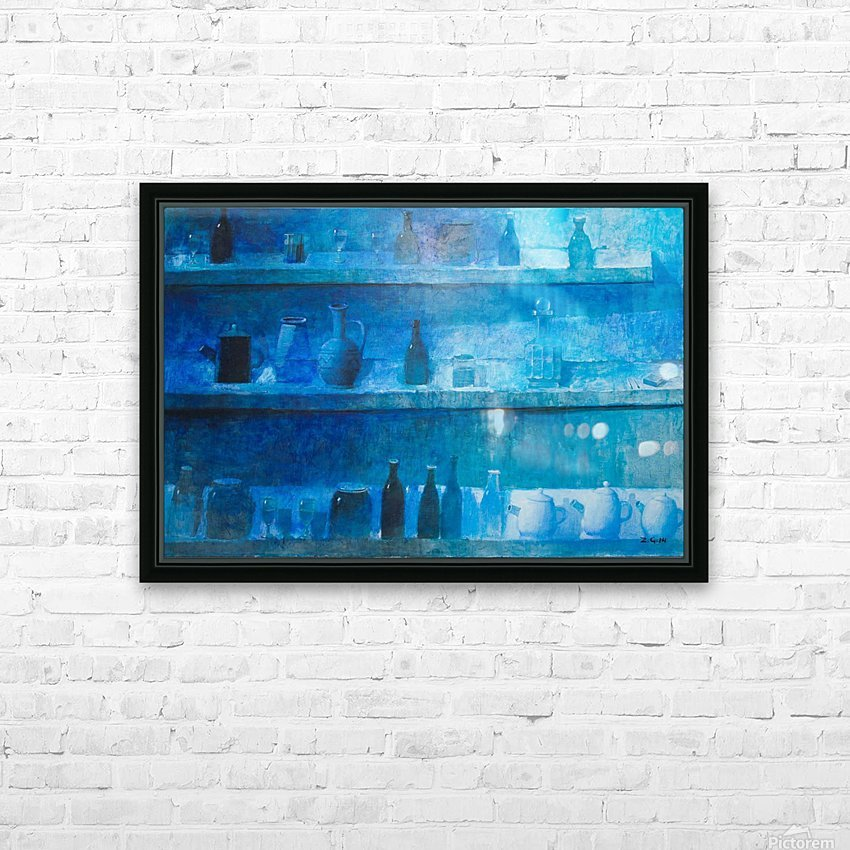 Still Life in Blue HD Sublimation Metal print with Decorating Float Frame (BOX)