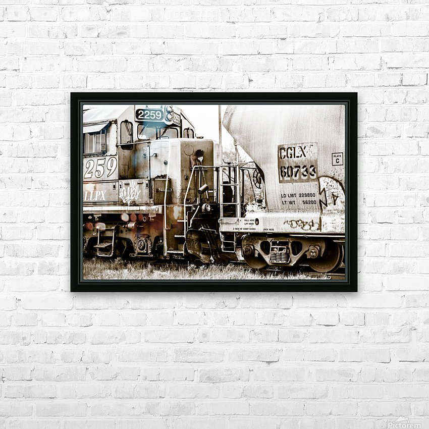 On the Tracks HD Sublimation Metal print with Decorating Float Frame (BOX)