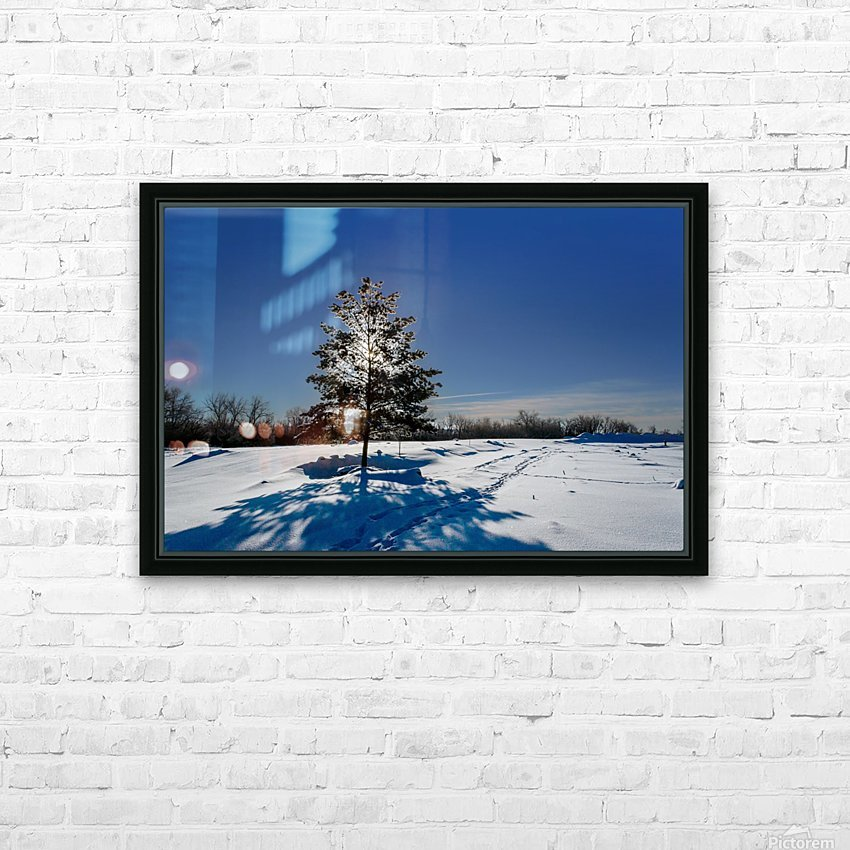 Beautiful, colorful and cold winter with snow and frost HD Sublimation Metal print with Decorating Float Frame (BOX)