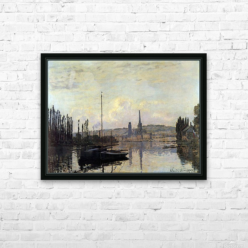 View of Rouen by Monet HD Sublimation Metal print with Decorating Float Frame (BOX)
