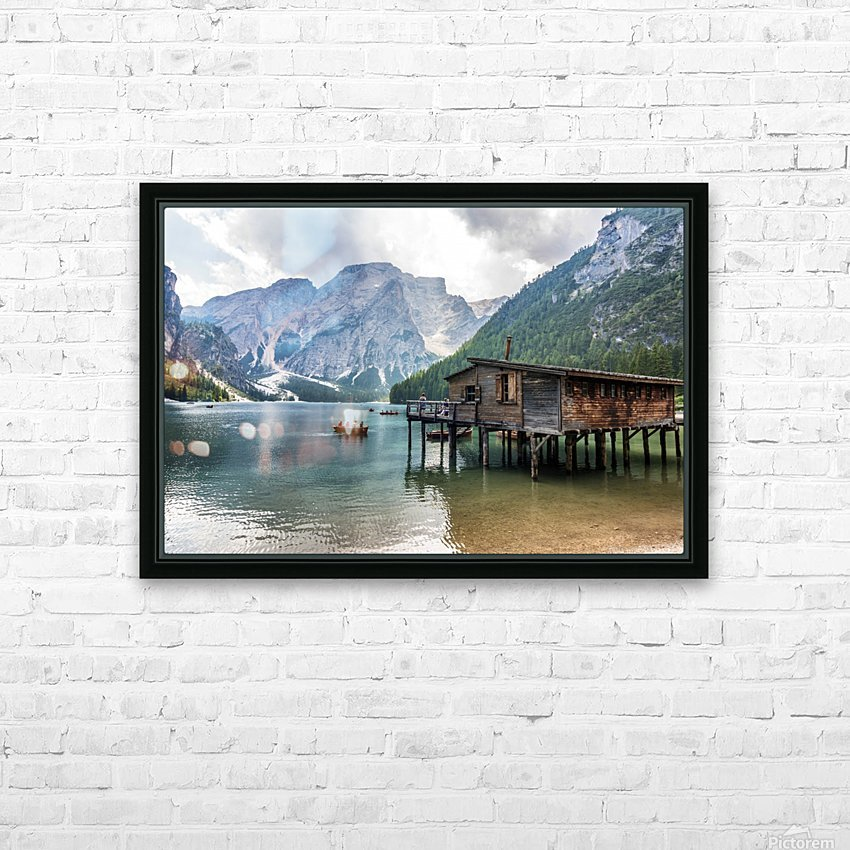 Lake of Braies HD Sublimation Metal print with Decorating Float Frame (BOX)