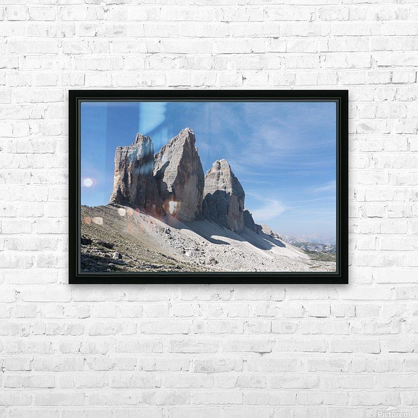 Three peaks of Lavaredo HD Sublimation Metal print with Decorating Float Frame (BOX)