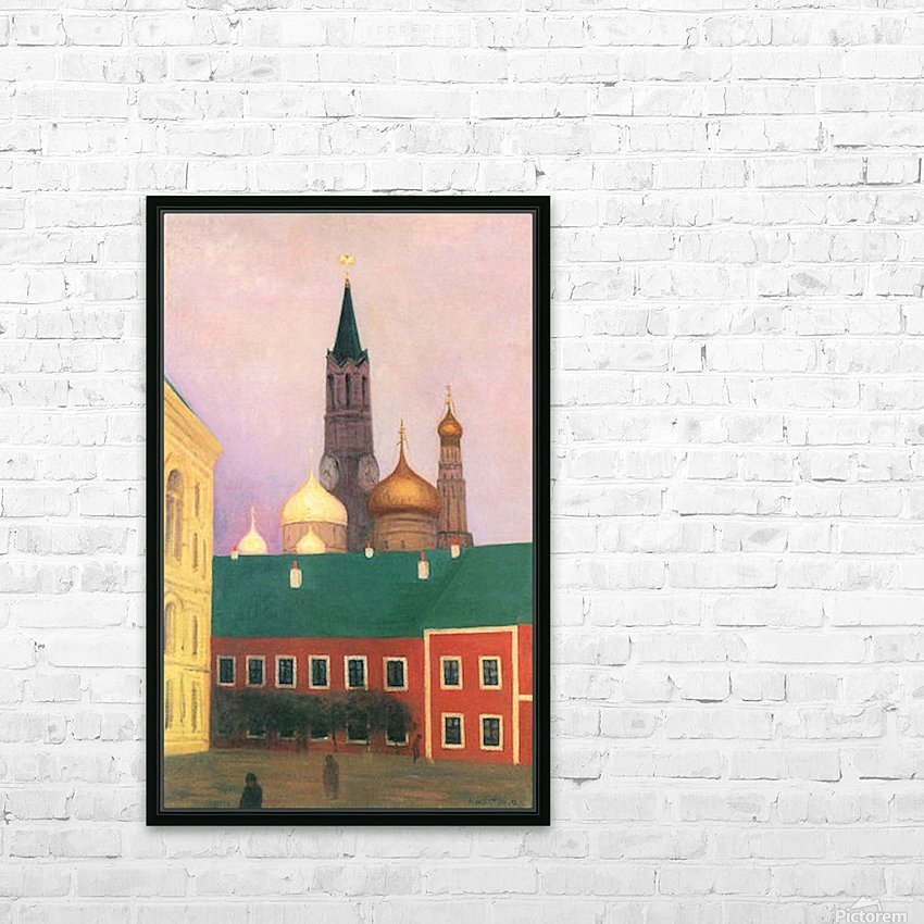 View of the Kremlin in Moscow by Felix Vallotton HD Sublimation Metal print with Decorating Float Frame (BOX)