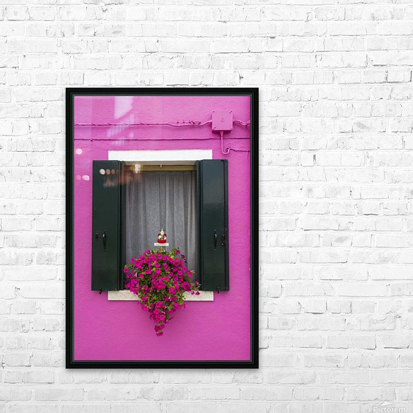 Colored window in Burano HD Sublimation Metal print with Decorating Float Frame (BOX)