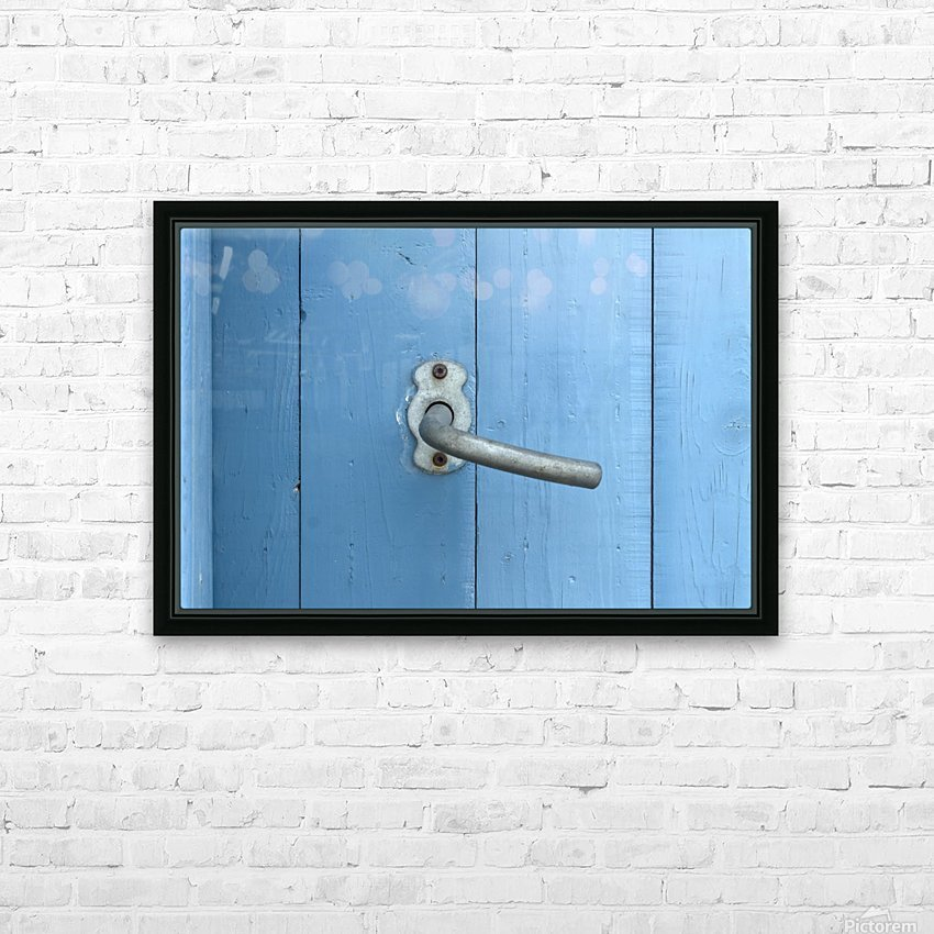 Blue Door HD Sublimation Metal print with Decorating Float Frame (BOX)