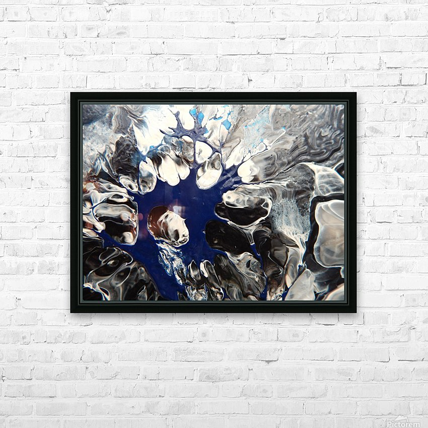 BLACK AND BLUE HD Sublimation Metal print with Decorating Float Frame (BOX)