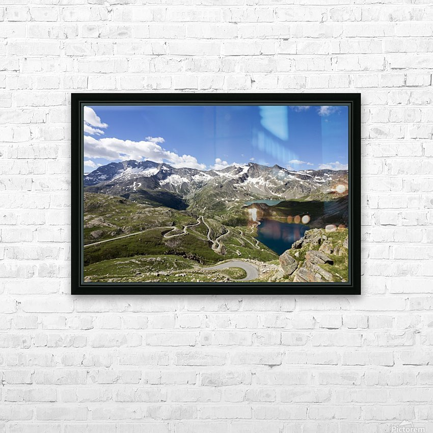 Landscape of Gran Paradiso HD Sublimation Metal print with Decorating Float Frame (BOX)