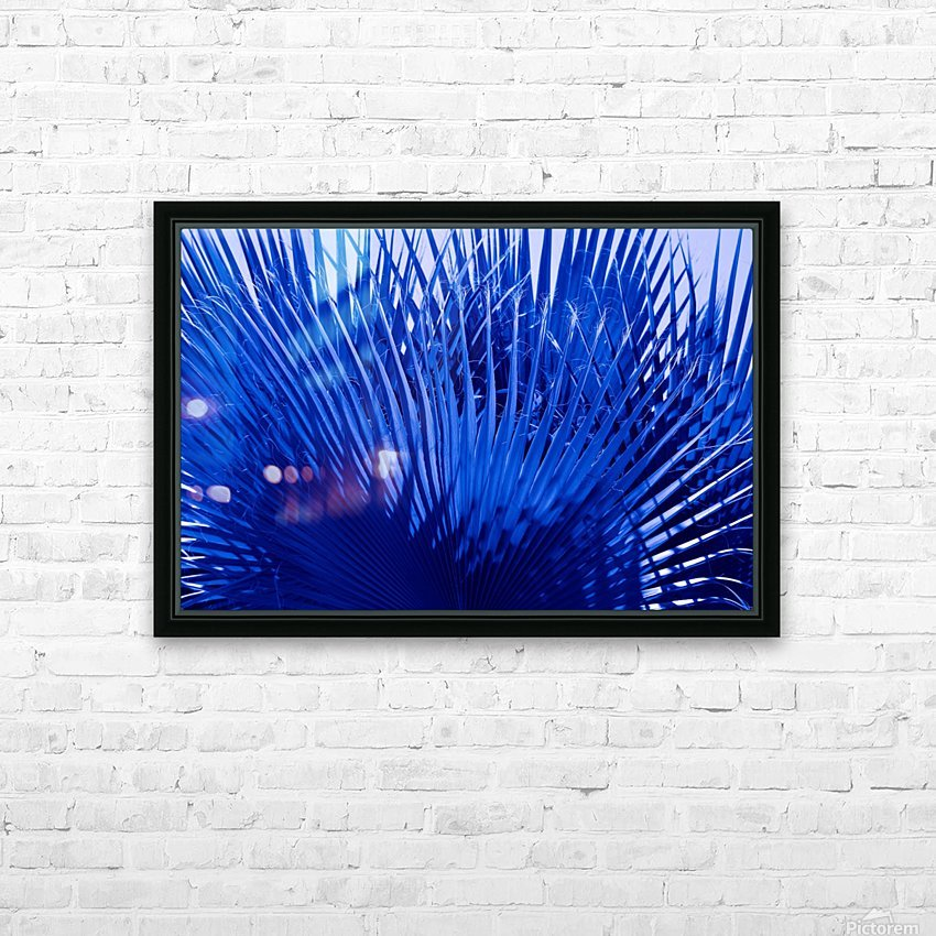 Blue Palms HD Sublimation Metal print with Decorating Float Frame (BOX)