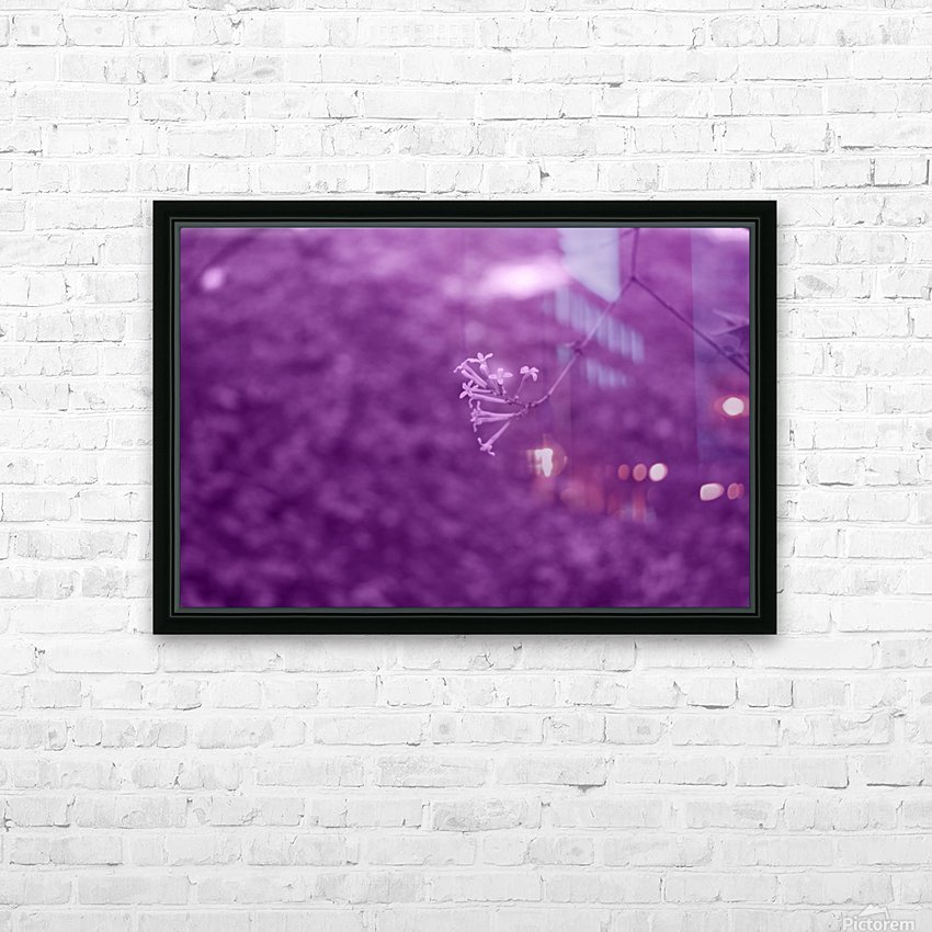 Pretty Bloom Red Violet HD Sublimation Metal print with Decorating Float Frame (BOX)