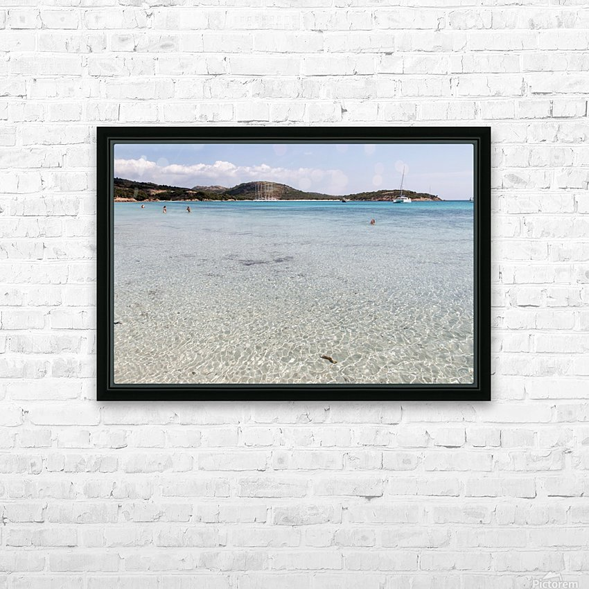 Rondinara beach HD Sublimation Metal print with Decorating Float Frame (BOX)