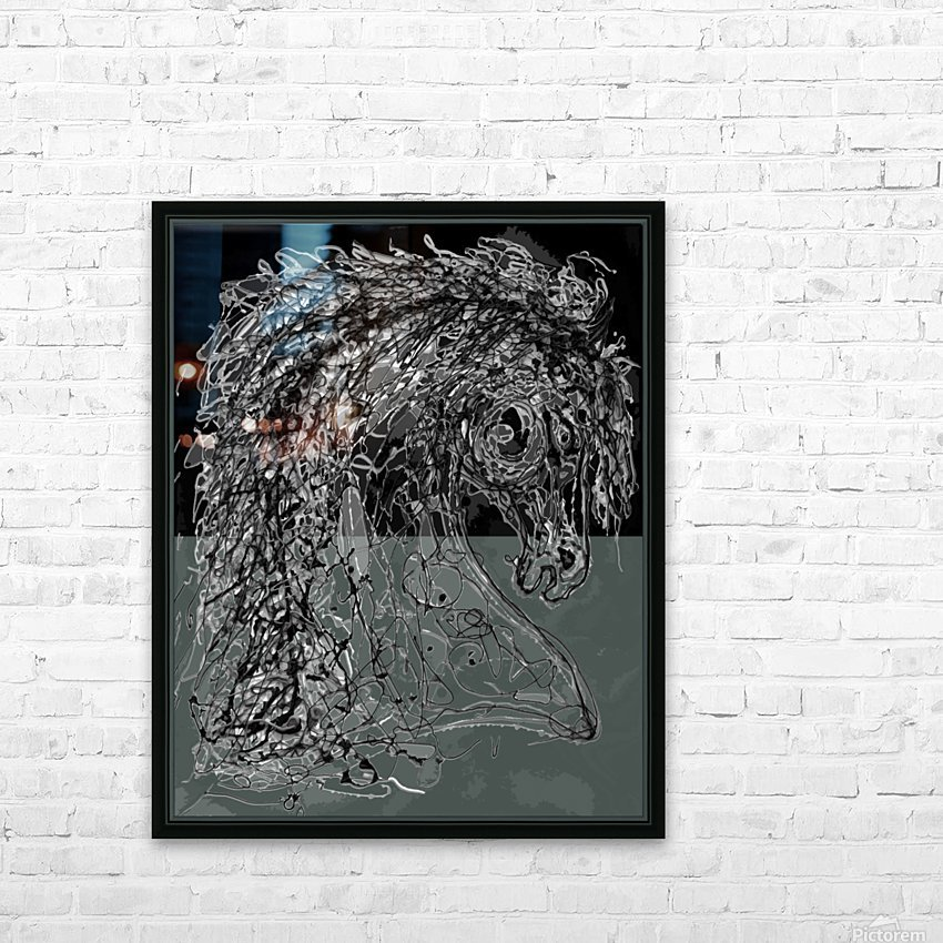''Horse''  Inspired by Dripped Abstract Pollock Style  HD Sublimation Metal print with Decorating Float Frame (BOX)