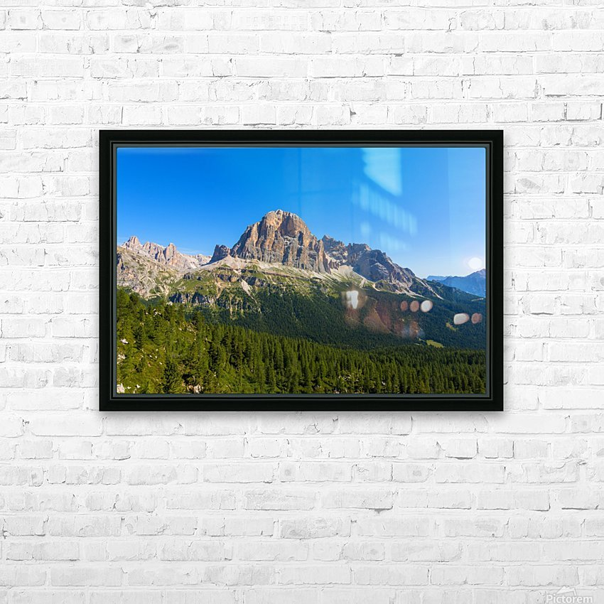 Dolomiti HD Sublimation Metal print with Decorating Float Frame (BOX)