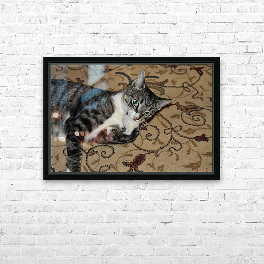 Tiny - eat my foot HD Sublimation Metal print with Decorating Float Frame (BOX)