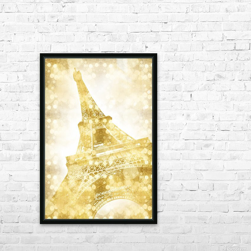 EIFFEL TOWER | golden illusion HD Sublimation Metal print with Decorating Float Frame (BOX)