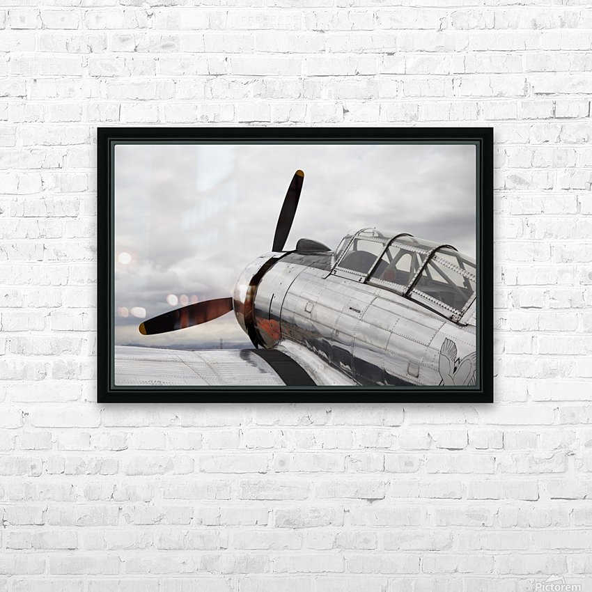 P-53 Nose HD Sublimation Metal print with Decorating Float Frame (BOX)