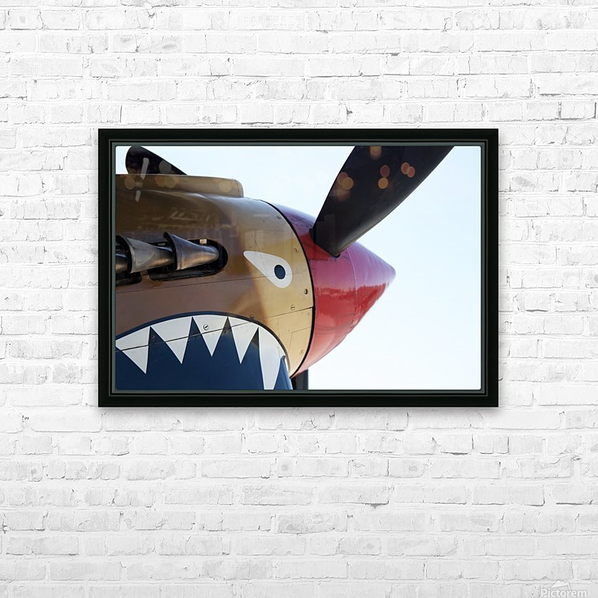 P-40 Warhawk Nose HD Sublimation Metal print with Decorating Float Frame (BOX)