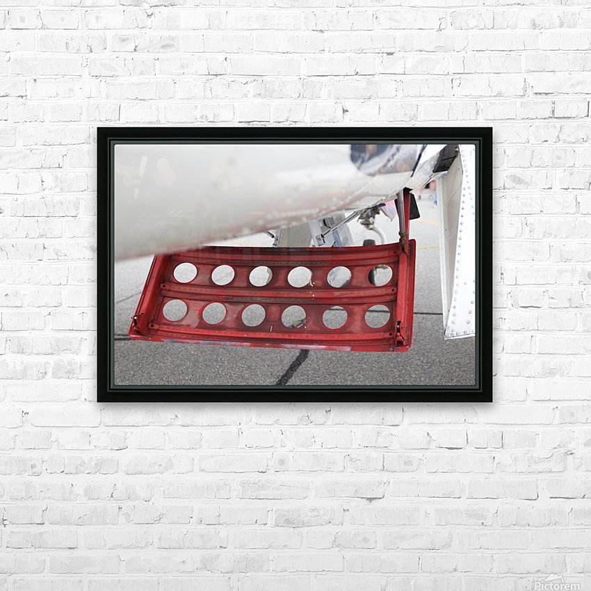 WWII Airplane Part Rudder HD Sublimation Metal print with Decorating Float Frame (BOX)