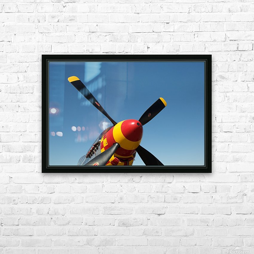 P-51 Mustang Propeller HD Sublimation Metal print with Decorating Float Frame (BOX)