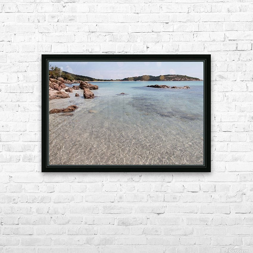 Rondinara beach in Corse HD Sublimation Metal print with Decorating Float Frame (BOX)