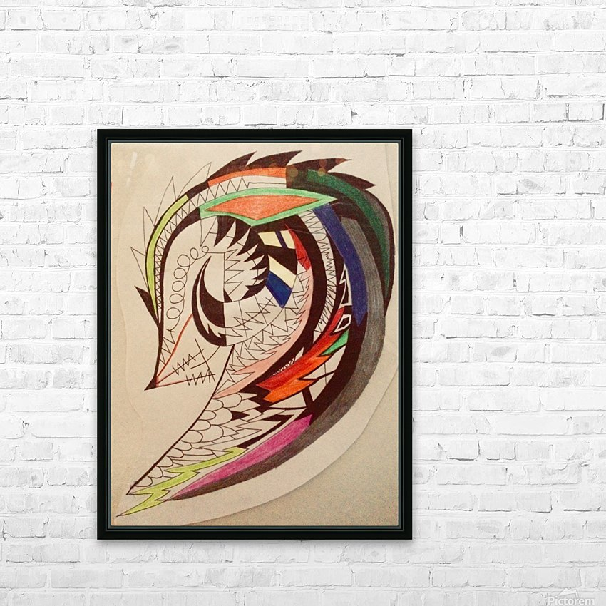 Warrior Wings HD Sublimation Metal print with Decorating Float Frame (BOX)