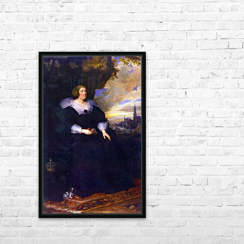 Maria de Medici HD Sublimation Metal print with Decorating Float Frame (BOX)