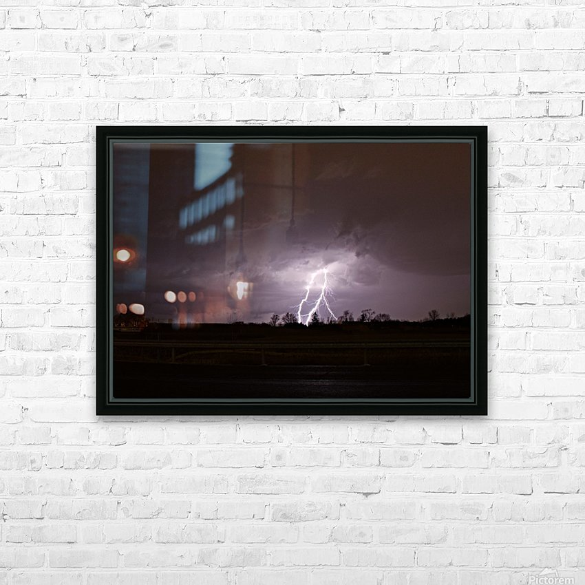 Summer Storm HD Sublimation Metal print with Decorating Float Frame (BOX)