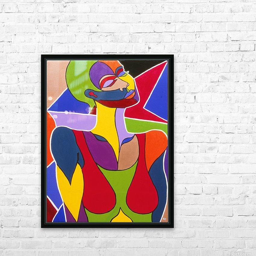 Cosmic Woman  HD Sublimation Metal print with Decorating Float Frame (BOX)