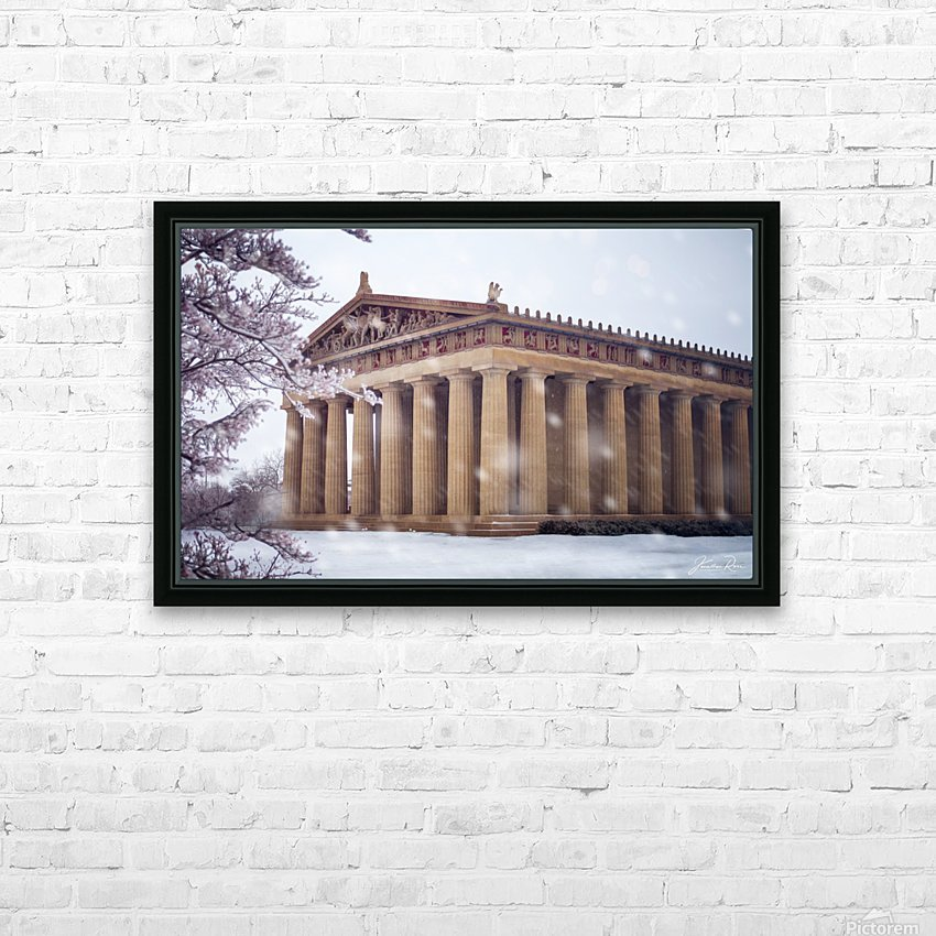 Parthenon in Nashville during winter HD Sublimation Metal print with Decorating Float Frame (BOX)