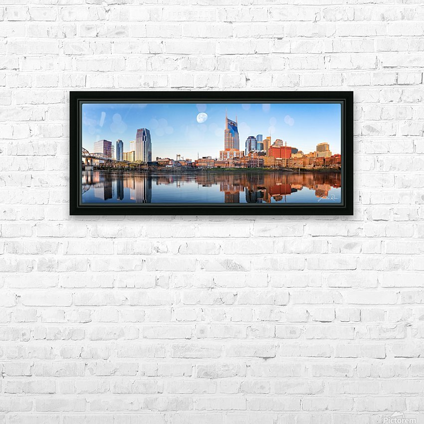 Nashville Skyline in the morning HD Sublimation Metal print with Decorating Float Frame (BOX)