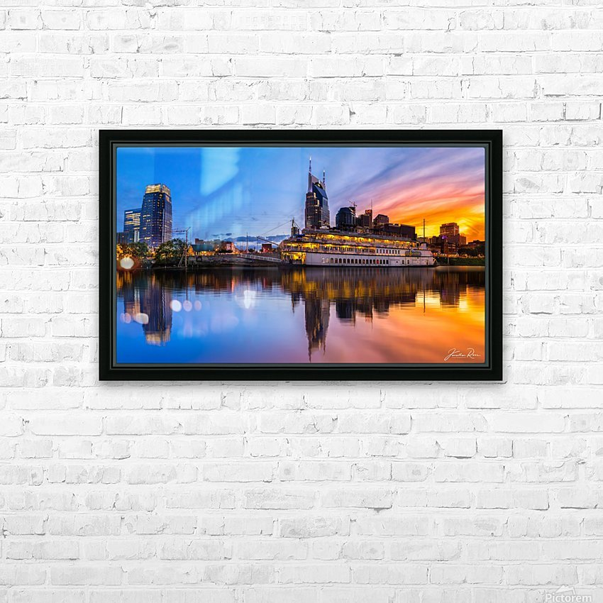 Nashville and General Jackson  HD Sublimation Metal print with Decorating Float Frame (BOX)