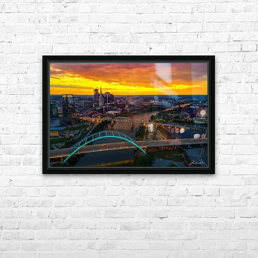 Nashville Skyline HD Sublimation Metal print with Decorating Float Frame (BOX)