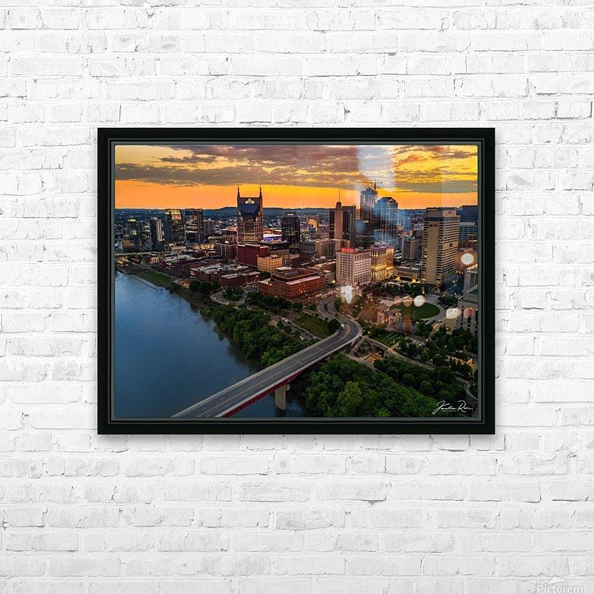 Nashville Sunset HD Sublimation Metal print with Decorating Float Frame (BOX)