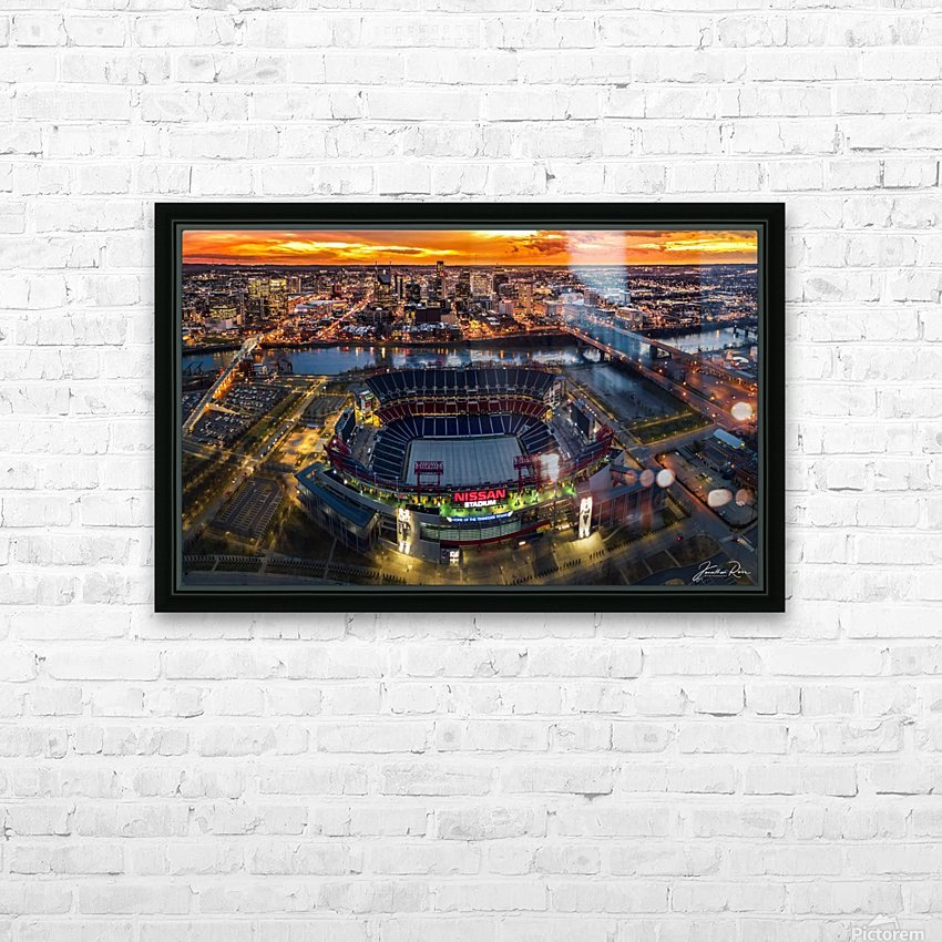 Nashville and Titans stadium HD Sublimation Metal print with Decorating Float Frame (BOX)