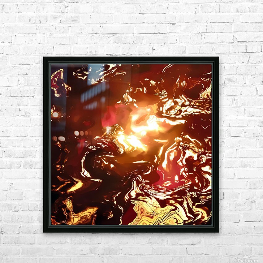 Twisted Sunset HD Sublimation Metal print with Decorating Float Frame (BOX)