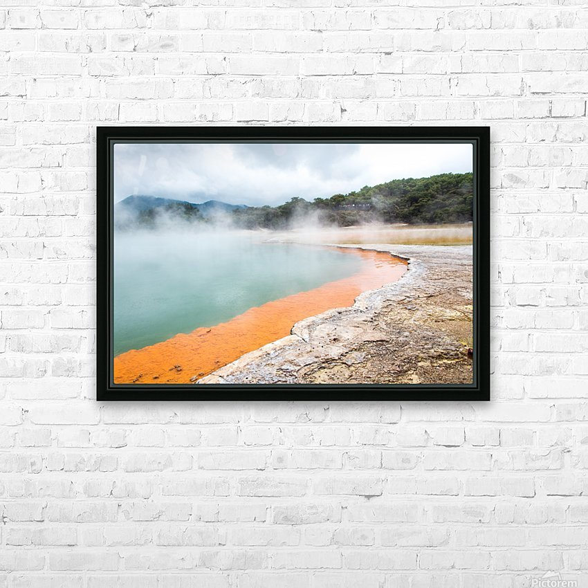 Rotorua Hot pool with steam New Zealand HD Sublimation Metal print with Decorating Float Frame (BOX)