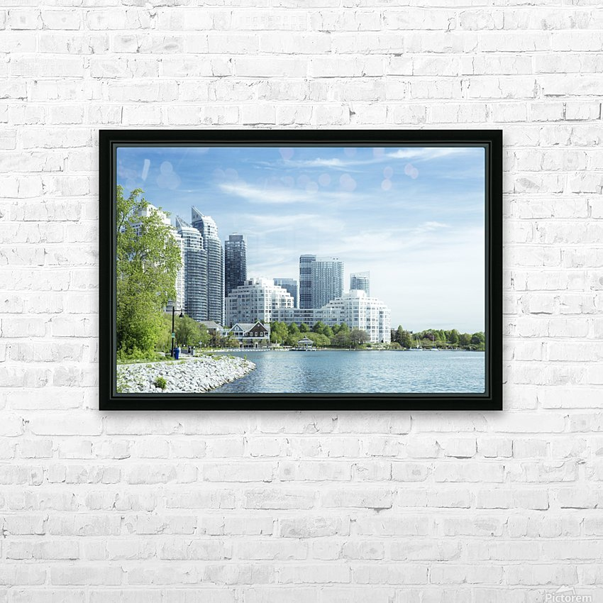 Waterfront HD Sublimation Metal print with Decorating Float Frame (BOX)